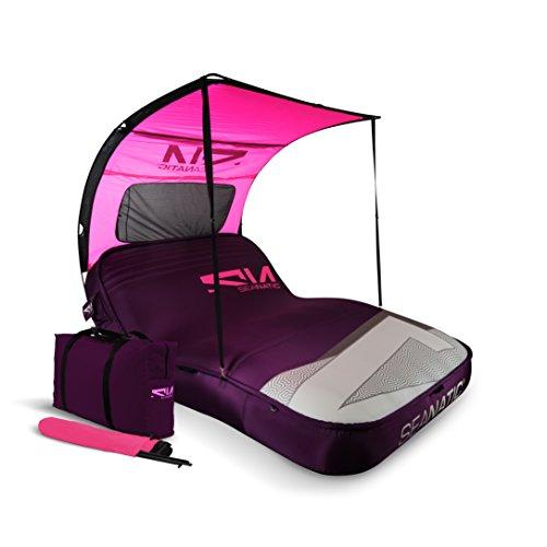 Seanatic Inflatable Cabana Lounge Luftmatratze Badeinsel Sonnenliege (imperial purple)