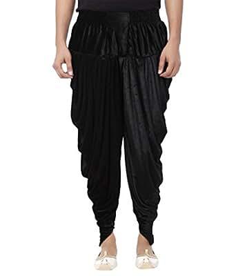 Dulha Libaas Readymade Velvet Harem Dhoti Bottom for Women (HRM-01,Black_Free Size)