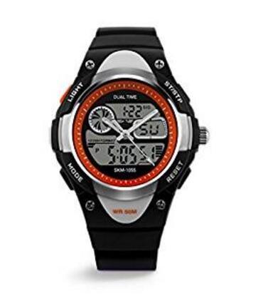 topcabin boys girls resin hands and digital wristwatch child student swim sport digital watch -50m waterproof watch