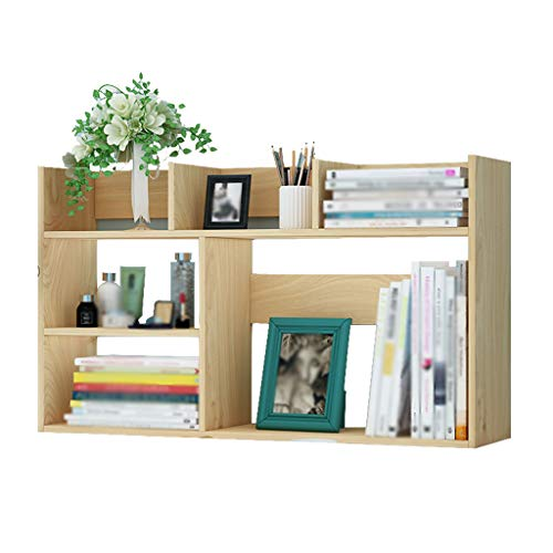 cherregal-einfaches Platten-Plaid-Tabellen-kleines Bücherregal-Lagerregal-Lagerregal (Farbe : Solid Wood) ()