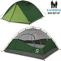 Delicacydex 3-4 Personnes Famille Tente de Camping Tente Portable abri Tente imperm/éable avec Sac de Transport pour Pique-Nique randonn/ée p/êche Utilisation en Plein air Bleu