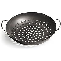 Enders GEMÜSEPFANNE Grill-Zubehör 8790, BBQ Gourmet, für Gemüse, Salat, Fisch, Pfanne, beschichtet