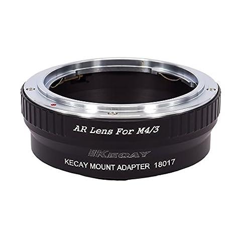 KECAY® Objektiv Adapter Ring Konica AR Objektiv auf Micro 4/3 M4/3 Four Thirds System Kamera Lumix G1 G2 G3 G10 GX1 GH1 GH2 GF1 GF2 GF3 GF5 GH4 Olympus PEN OM-D E-M5