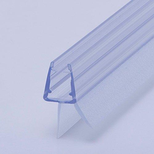 100cm Ersatzdichtung mit Dichtkeder für 6mm/ 7mm/ 8mm Glasdicke Wasserabweiser Duschdichtung Schwallschutz Duschkabine #1001