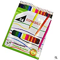 24 Lápices largos de colores Lápices coloreados de dibujo de arte para adultos Libros de colorear