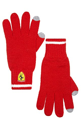 Branded London Scuderia Ferrari Herren-Strickhandschuhe - Rot - OS -