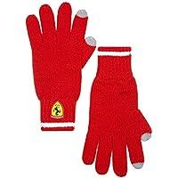 Desconocido Scuderia Ferrari fórmula 1rojo de punto guantes w/pantalla táctil dedo punta detalle