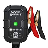NOCO GENIUS1UK, 1-Amp Fully-Automatic Smart, 6V and 12V Charger, Maintainer, and Battery Desulfator with Temperature Compensation