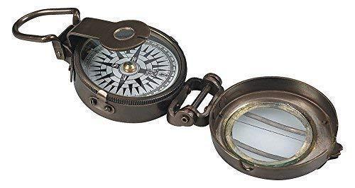 linoows Weltkriegs Kompass, Britischer Peil und Marschkompass Messing bronziert