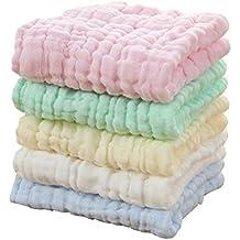 Hosaire Bebé recién nacido gasa Toalla de baño los niños la burbuja de gasa de algodón
