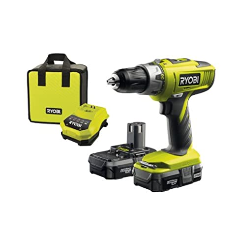 Ryobi ONE+ Cordless Combi Drill with 2 x 1.3A Batteries and 45 Minute Charger, 18V