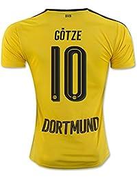 20162017Borussia Dortmund camiseta de 10Mario Gotze casa fútbol Jersey de flores en amarillo, hombre, amarillo, mediano