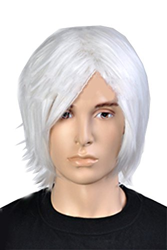 nero-perruque-wig-cosplay-court-pur-blanc-cheveux-hair-accessoires-pour-halloween-costume