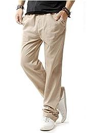 Minetom Veste en jean lin Pantalons de Plage Casual Pantalons Pour Hommes, Garçons Pantalons été