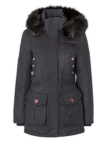 petrûs Damen Jacke winddicht, wasserabweisend, atmungsaktiv Outdoor anthrazit 42/XL