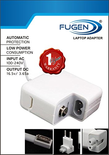 FUGEN 60W 16.5V 3.65A Ac Adapter Charger for 13/15.4/17-inch Apple MacBook Air/Pro(White)