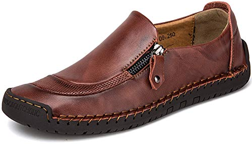 the latest bfa96 06a06 Phefee Mens Loafers Flat Shoes Casual Flat Driving Shoes Lightweight Formal  Business Work Comfort Walking Shoes