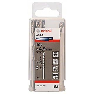 Bosch 2608585490 Metal Drill bits HSS-G, DIN 338, Silver, 4.9 x 52 x 86 mm