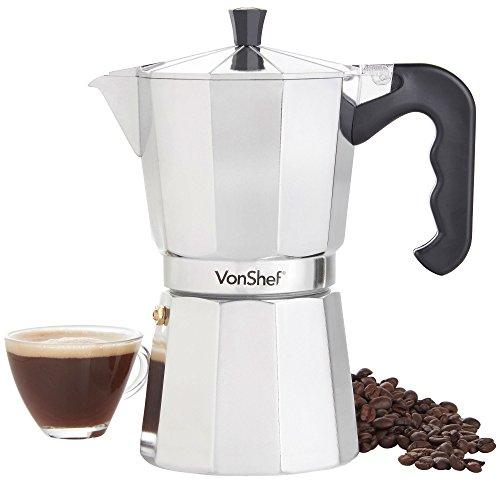 VonShef italienischer Kaffee oder Mokka -Maker 9 Tassen Herdplatte Macchinetta enthält eine...