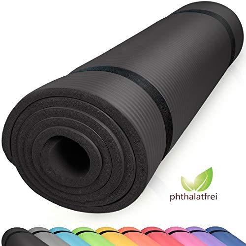 diMio Komfort-Gymnastikmatte Yogamatte in 185x60x1cm, 185x60x1.5cm, 185x90x1.5cm, 200x100x2 mit Tragegurt Phtalatfrei + SGS-geprüft (Dick Männer Yoga-matten Für)