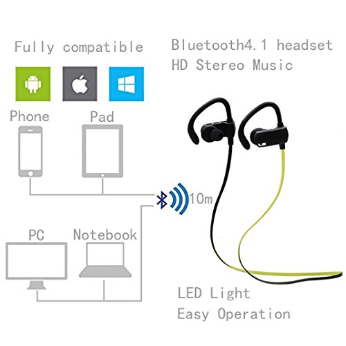 Bluetooth-Sportkopfhrer-In-Ear-ILE-Bluetooth-V41-Sport-Kopfhre-Stereo-In-Ear-Ohrhrer-mit-Mikrofon-und-APTX-Wireless-Bluetooth-fr-Smartphone-IOS-Android-Handys-iPad-Laptops-Tablet