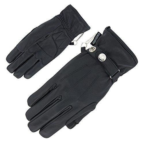 Motorradhandschuhe Echtleder exquisite Handschuhe extra weiches Leder - 4 Farben (9, Schwarz)