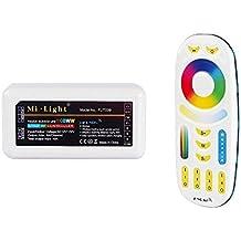 LIGHTEU, RGB + CCT (RGBWW) Controlador Módulo de control inalámbrico WiFi Controlador LED WLAN 2.4G RGB y RGB + CCT (RGBWW) Control remoto
