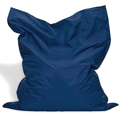 Sitzkissen XL-XXXXL Sitzsack Bodenkissen Kissen Sack In-und Outdoor (XXXXL= 200 x 145, Marine)
