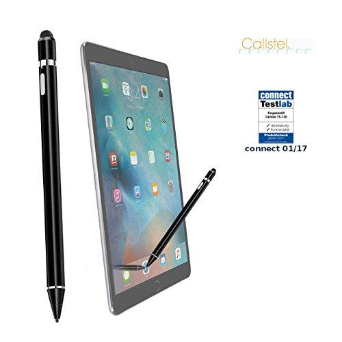 Callstel Touchstift: Aktiver Touchscreen-Eingabestift mit integr. Akku, auch für kompatibel mit iPad Pro (kompatibel mit iPad Pen) - Tablet Sketch Pad