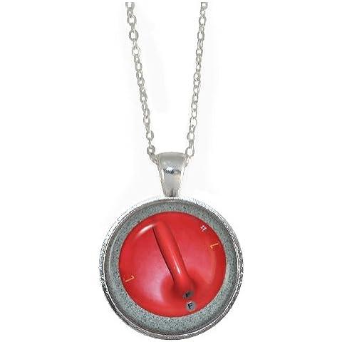 Per confezioni regalo, motivo: pietra con ciondolo-Collana