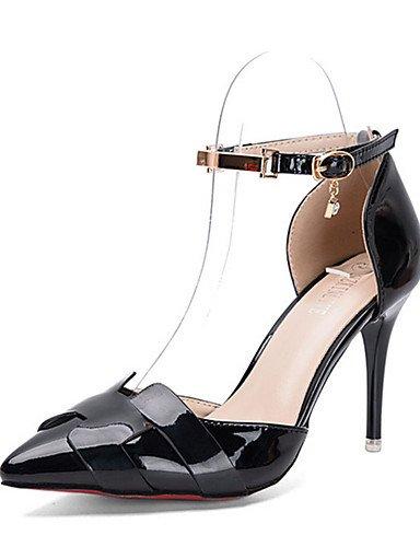 WSS 2016 Chaussures Femme-Décontracté-Noir / Rouge / Argent-Talon Aiguille-Talons-Chaussures à Talons-Polyuréthane black-us6.5-7 / eu37 / uk4.5-5 / cn37