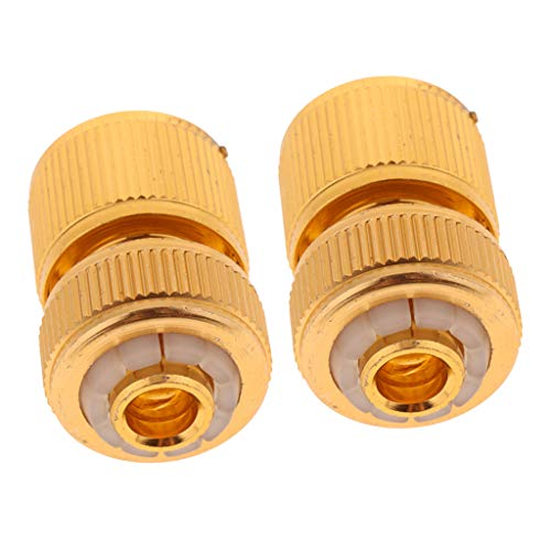 Brass Coupling (Fenteer Connector To 1/2'' Female Adapter Pressure Washer Coupling, Durable Brass, Release,Pack Of 2)