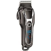 SURKER Profesional cuchilla eléctrica Men's Trimmer cortadora de pelo máquina de afeitar eléctrica Maquinilla de afeitar barba recortadora cortadora recorte de corte de pelo con Pantalla LED con 4 Peines y Batería Recargable para Hombres o Perros etc