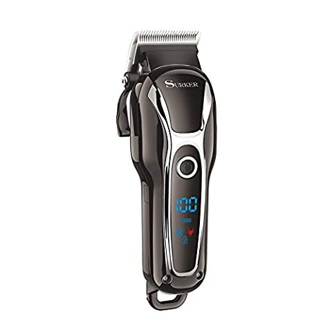 SURKER Tondeuse Cheveux Tondeuse Barbe Professionne Kit de coiffure Electrique Sans Fil Rechargeable avec 5 Peigne pour Enfants Adultes Personnes Agées Salon professionnel
