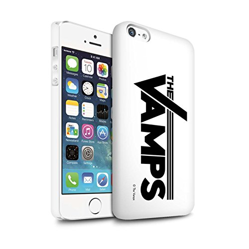 Offiziell The Vamps Hülle / Matte Snap-On Case für Apple iPhone SE / Pack 6pcs Muster / The Vamps Graffiti Band Logo Kollektion Weiß/Schwarz