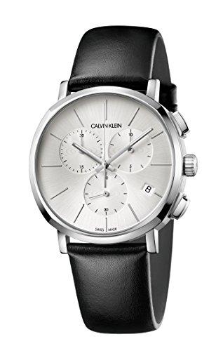 Calvin Klein Reloj Cronógrafo para Hombre de Cuarzo con Correa en Cuero K8Q371C6