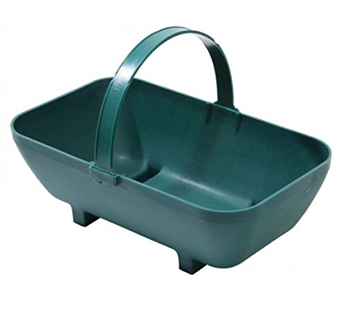 Tierra Garden GP44GR Large Trug Recycled Plastic Planter, Green