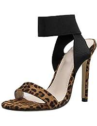 Solike Escarpins Femme Sexy Talons Aiguilles 12 CM - Ouvert Bout - Stiletto Escarpin  Pointu en Lacets - Chaussures de… c8fbae4cb86e