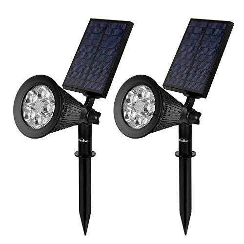 Kealive Lampada Solare LED da Prato 5V 2W Impermeabile Auto On / Off Luce di Paesaggio per Prato, Sentiero, Giardino, Cortile, ecc (LT-KL2, Set di 2)