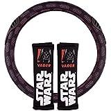 Star Wars STW102 Vader Almohadillas + Funda de Volante, Juego de 2