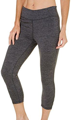 Gaiam OM Yoga Capri Damen Performance Basic Lange Kompressions Leggings-Anthrazit Heather, klein -
