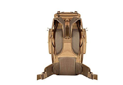 Xin.S65L Borsa Da Montagna All'aperto Zaino Tattiche Spalle Grande Capacità Pacchetto Ventilatore Di Viaggio Escursioni Zaino Da Combattimento Multifunzionale Brown