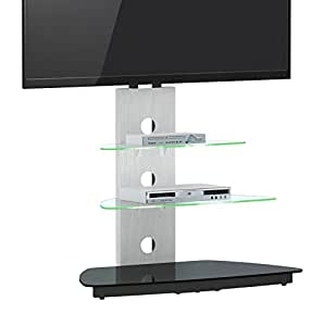 jahnke meuble tv cu mr 50 led verre clair 55 x 90 x 120 cm19n59 cuisine maison. Black Bedroom Furniture Sets. Home Design Ideas