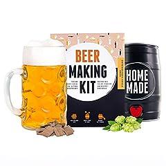 Idea Regalo - Kit Fermentazione Birra della Germania estilo Oktoberfest | Crea la tua birra artigianale fatta in casa | Idee Regalo Uomo | Tutto compreso | Brewbarrel Braufässchen