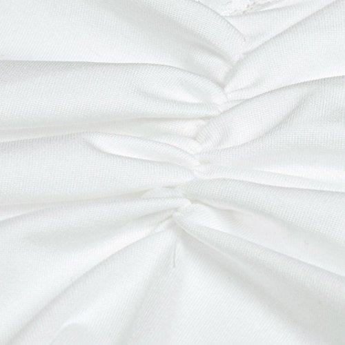 Amlaiworld Frauen Sommer Weste Spitze Sleeveless Bluse Tank Tops T-Shirt Weiß