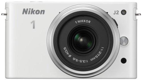 Nikon 1 J2 Systemkamera (10,1 Megapixel, 7,5 cm (3 Zoll) Display) Kit inkl. Nikkor 11-27,5 mm weiß