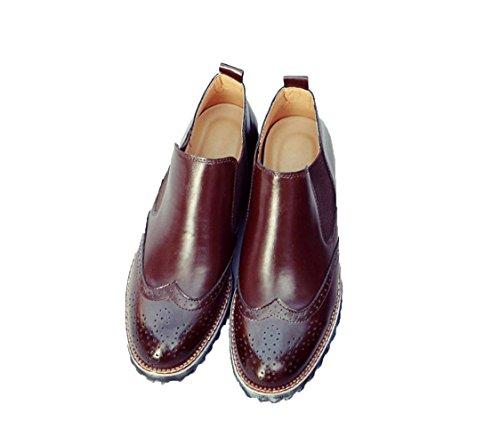 WZGDie neuen Männer beiläufige Schuhe der hohe Hilfe Gezeiten Schuhe atmungsaktiv geschnitzt Modetrend Schuhe der Männer faul Satz Fuß Brown