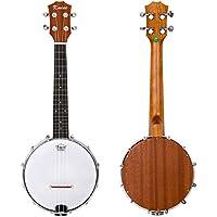 Kmise 4 cuerdas Banjo Ukulele Uke Banjo lele Concierto 23 Inch Tamaño Madera de Sapele