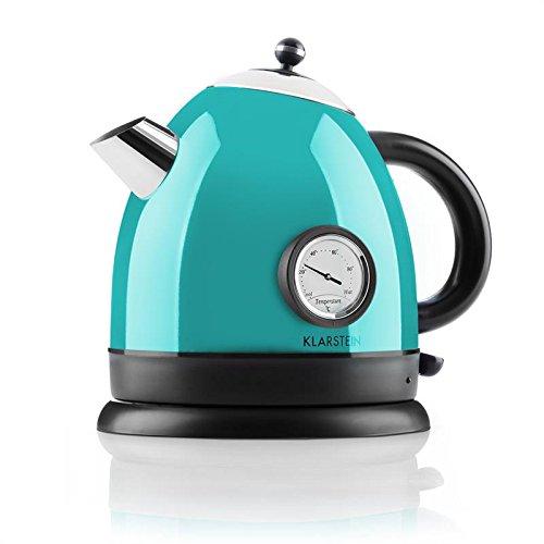 Klarstein • Aquavita • Wasserkessel • Teekocher • Retro Teekessel Design • 1,5 Liter •...
