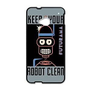 Bender Poster Futurama Vector HTC One M7 Cell Phone Case Black Phone Accessories VRK977K7
